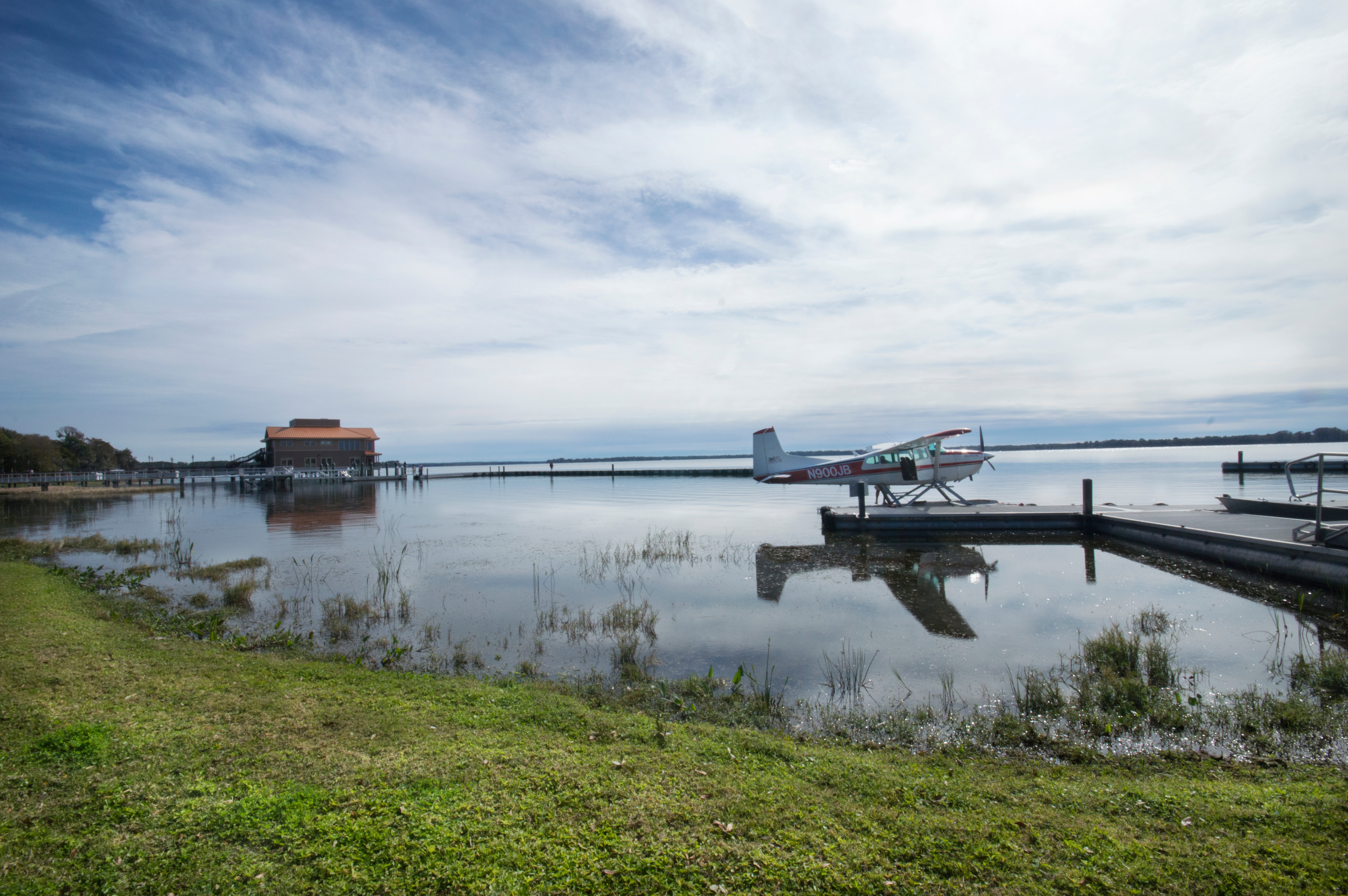 Seaplane and Pavillion